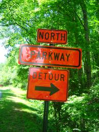 Photo - Detour sign on the Blue Ridge Parkway