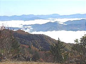 photo - view from Waterrock Knob, one of the highest sections in North Carolina
