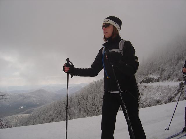 Jackie Skiing