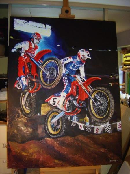 "Image - Rob Kinsey painting - ""Anaheim 86"""
