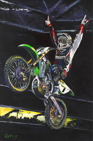 "Image - Rob Kinsey painting - ""James Stewart"""