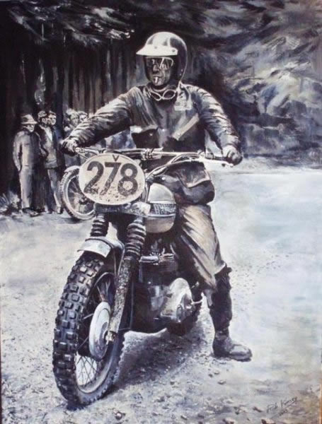 "Image - Rob Kinsey painting - ""Steve McQueen"""