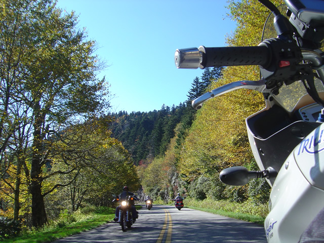 photo - Motorcycles on the Blue Ridge Parkway