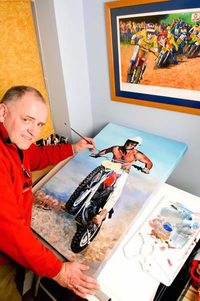 Photo - Rob Kinsey with painting