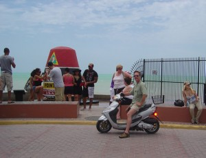 Photo Wayne finds 2-wheeled transport to the southernmost point