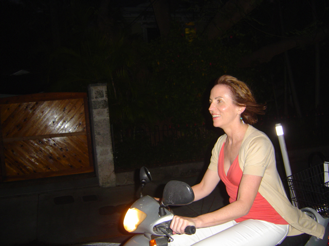 Photo-Jackie-rules-the-night-on-her-moped