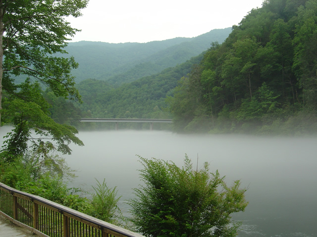 Photo - Fog on Lake Fontana
