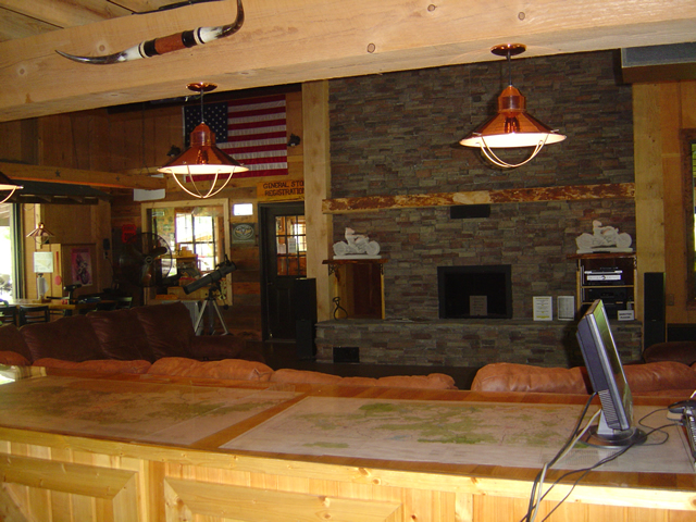 Photo - inside view of the Lodge building