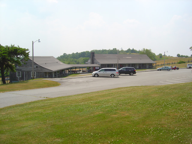 Photo of the Doughton Park Lodge buildings