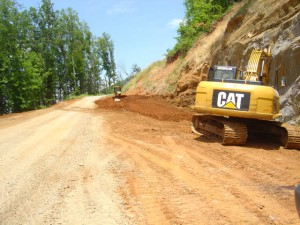 Photo - work on Onion Mountain road