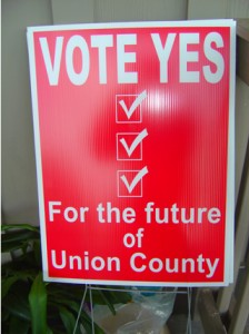 Photo - Vote Yes Sign worked
