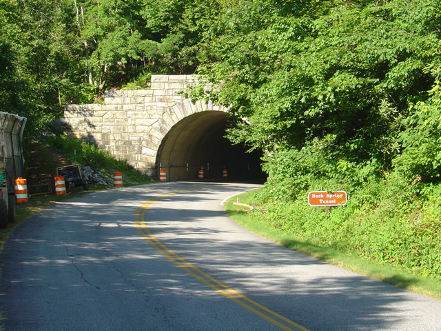 photo- work zone near Buck Spring Tunnel