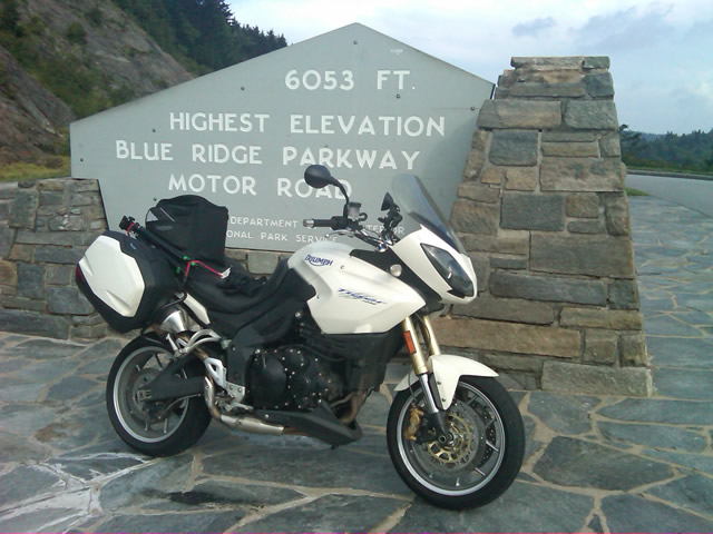 Photo - at the highest point on the Blue Ridge Parkway