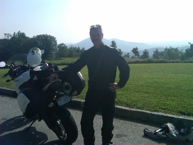 Photo - me and my bike along the Blue Ridge Parkway