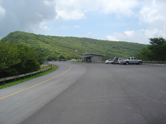 Photo - the Craggy Gardens Visitor Center on the Blue Ridge Parkway. Lots of parking, it's a popular stop.