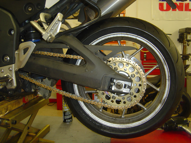 Photo - installing my new chain