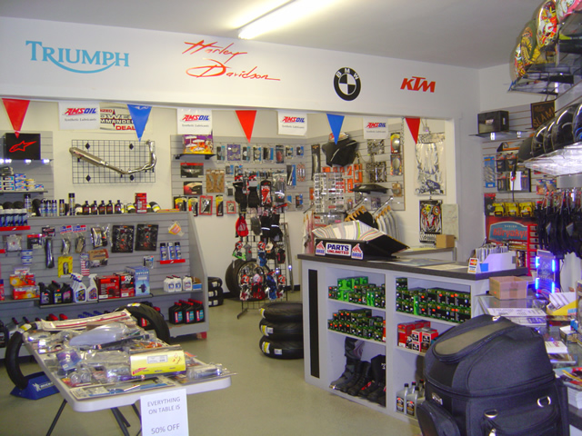 Photo - gear and supplies at Cycle Sportz