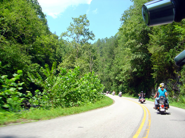 Photo - riding with the herd on River Road