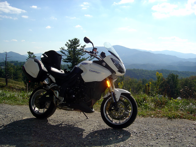 Photo - My bike on Beech Mountain Road