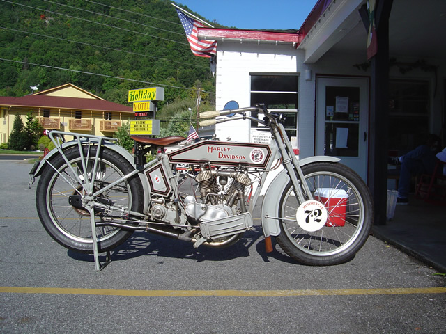 Photo - vintage Harley