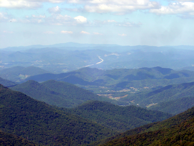 Blue Ridge Parkway Detour 2012 - 2013 - View from Craggy Gardens Overlook