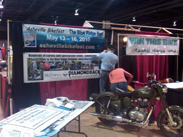 Photo - Setting up at Bike show