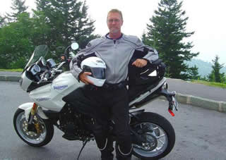 Photo - Wayne and his motorcycle