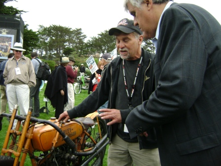 Photo - Jay Leno and Dale Walksler from Wheel Through Time Motorcycle Museum in Maggie Valley