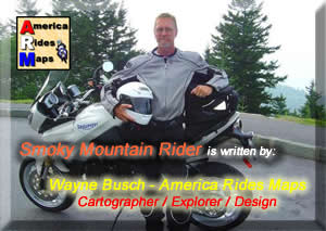 Smoky Mountain Rider is written by Wayne Busch / America Rides Maps