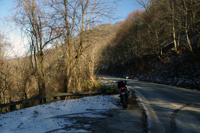 Photo - motorcycle and snow in NC