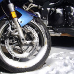 Another Cold Winter Day – Photo – Snow on motorcycles