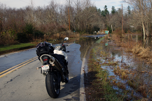 Photo - flooded road near Mills River
