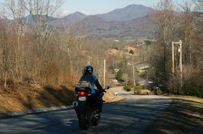 Photo-Jackie-enjoys-smoky-mountains-view-on-motorcycle