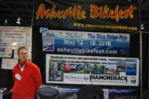 Photo - Asheville Bikefest booth at Greenville IMs show