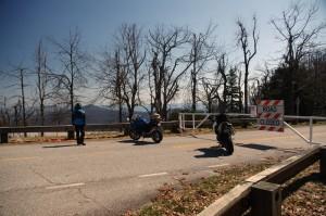 Motorcycle the Blue Ridge Parkway