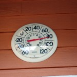 Photo - Thermometer at Deals Gap Motorcycle Resort