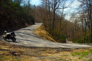 Photo - hairpin curve on Alpine Rd