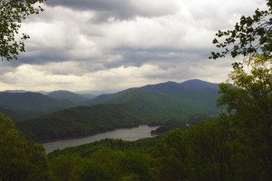 Photo - Rain over Deals Gap / Fontana Lake