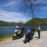 Photo - motorcycles at Nantahala Lake