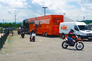 Photo - KTM riders returning to the Asheville Bikefest