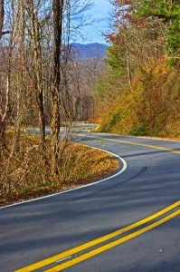Photo-section of Hookers Gap Road