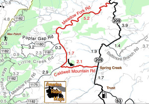Meadow Fork Road Map