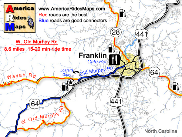 motorcycle ride map Smoky Mountain Motorcycle Rider