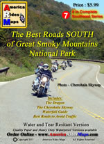 image Great Smokies south map cover