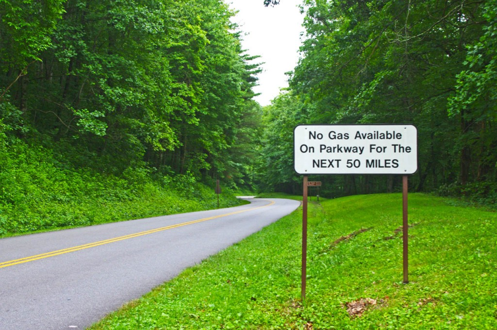 photo-no-gas-sign-on-blue-ridge-parkway