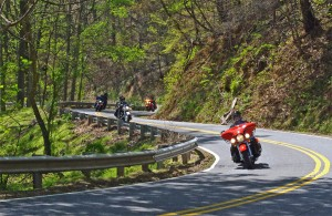 "Great Motorcycle Rides in North Carolina - NC 209, a.k.a. ""The Rattler"" This is some of the best motorcycle riding you'll find in the world. These riders are looping back to NC 209 on NC 63.This is some of the best motorcycle riding you'll find in the world. These riders are looping back to NC 209 on NC 63."
