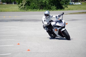 Motorcycle Training: Several women came to improve their riding skills.
