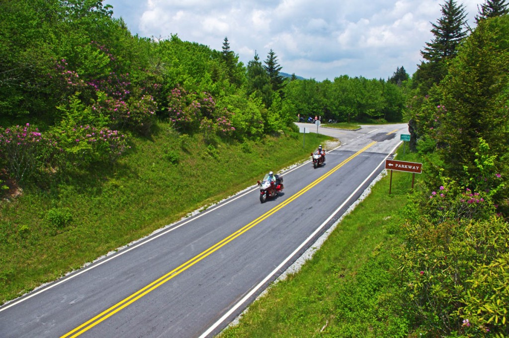 Great Motorcycle Rides in North Carolina - Pisgah Triangles - NC 215