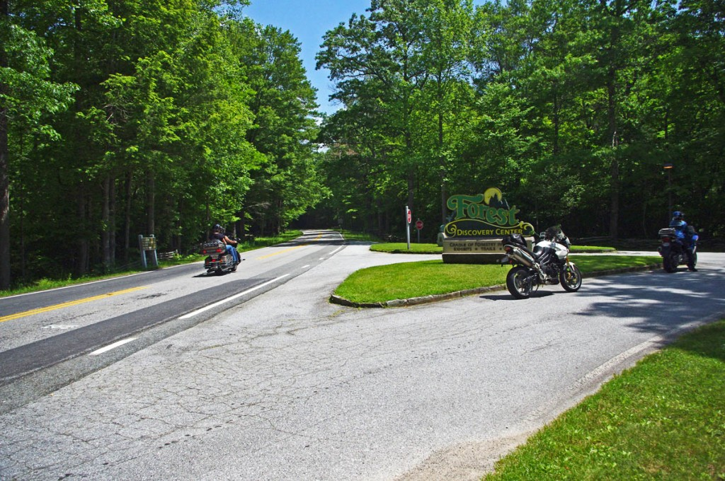 Great Motorcycle Rides in North Carolina - Pisgah Triangles - Cradle-of-Forestry
