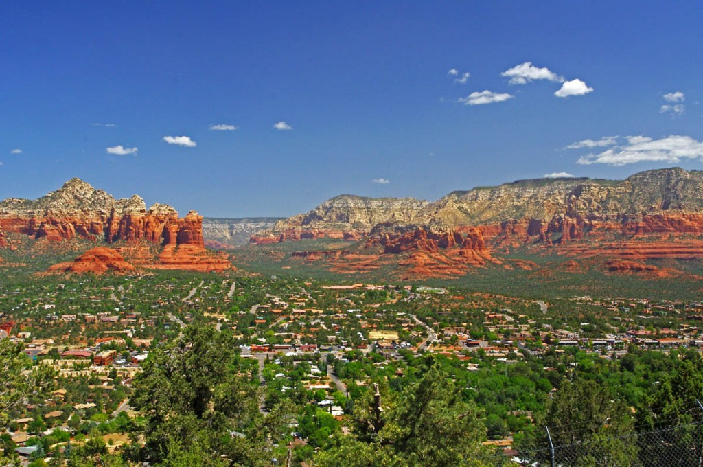 Motorcycle Rides in Arizona: Sedona, Scottsdale area - one of the best overlooks of Sedona